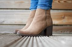 Autumnal wardrobe - Steve Madden Porta suede taupe side zip ankle boots  | The Lifestyle Archives