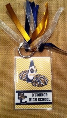 Custom Cheer Bag Tag by RoundRockCrafts on Etsy Cheer Sister Gifts, Cheer Team Gifts, Dance Team Gifts, Cheer Camp, Cheer Coaches, Cheerleading Gifts, Cheer Stunts, Cheer Party, Cheer Dance