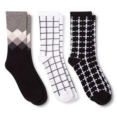 Ecom ME Casual Socks 3 Pk EBONY 4-10
