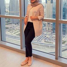Women's Casual Blazers with hijab – Just Trendy Girls Modern Hijab Fashion, Hijab Fashion Inspiration, Muslim Fashion, Modest Fashion, Fashion Outfits, Hijab Casual, Hijab Style, Hijab Chic, Women's Casual