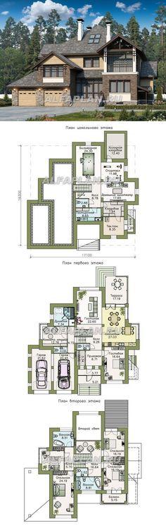 """107AC """"Современник плюс""""- современный коттедж c цокольным этажом. Общая площадь, включая цокольный этаж - 388.13 м2. Alfaplan.ru House Layout Plans, Duplex House Plans, Dream House Plans, House Layouts, Sims Building, Building Plans, Building A House, Home Design Decor, Dream Home Design"""