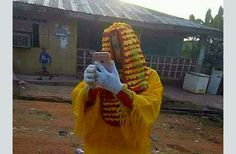 Swaggalicious Imo State Masquerade Spotted Taking Selfie