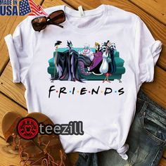 Disney Villains Mixed Friend Shirt Halloween 2019 T-shirt - TeeZill Disney Cute, Cute Disney Outfits, Cute Casual Outfits, Disney Style, Disney Clothes, Cute Disney Stuff, Disney Villain Shirt, Disney Villains, Travel Shirts