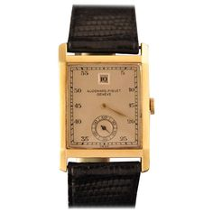 Audemars Piguet Yellow Gold Jump Hour Wristwatch, circa 1938 | From a unique collection of vintage wrist watches at https://www.1stdibs.com/jewelry/watches/wrist-watches/