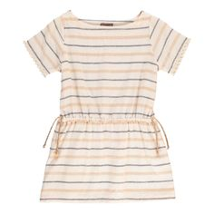 Lurex Bow Striped Dress-product