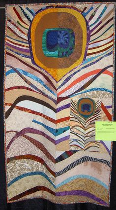 Peacock Feather Quilt  This is awesome.