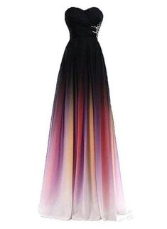 Charming Gradient Sweetheart Chiffon Long Prom Dresses 2019 830f8cf2e68
