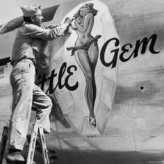Nose art from WWII. Love this shot!