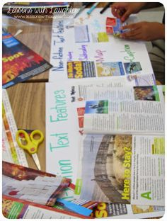 Nonfiction Text Features with old Scholastic News