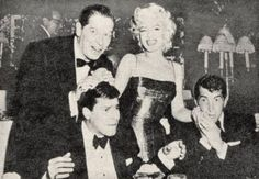 Marilyn Monroe, Dean Martin, and Jerry Lewis.