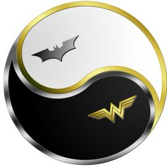 Batman Wonder Woman Yin Yang - They complement each other perfectly. :3