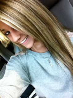 Blonde and brown highlights. i actually like this.. wonder if it'd look good on me..??