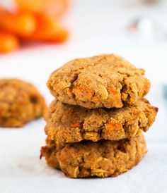 Egg free Healthy Cinnamon Carrot Cookies - Gluten-free, vegan cookies that are moist, delicious and easy to make.