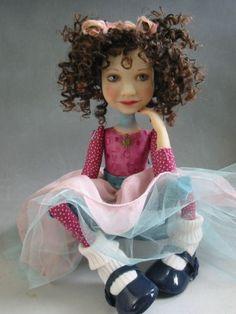 Folk Art Doll Dianne Adams -dlizdolls