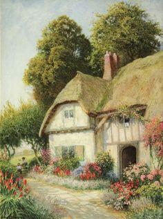 "ARTHUR CLAUDE STRACHAN ""Children at Play Near a Cottage"