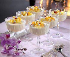 Fira in det nya året med en drömgod meny Mousse, Dessert Recipes, Drink Recipes, Panna Cotta, Sweet Tooth, Deserts, Food And Drink, Pudding, Sweets
