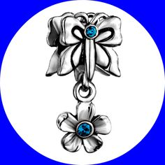 Butterfly Flower Crystal Charm {Read Descriptions Payment S/H} _____________________ L0118