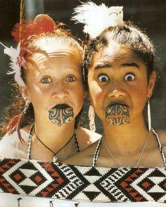 Maori women tattoos
