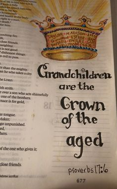 Proverbs 17 grandchildren crown of the aged