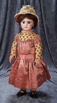 Beautiful and All-Original French Bisque Bebe with R.R. Markings in Couturier Costume 6000/8500