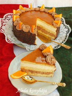 Aleda konyhája: Jókai torta Tart Recipes, Sweet Recipes, Cookie Recipes, Hungarian Desserts, Hungarian Recipes, Torte Cake, Custard Cake, Cold Desserts, British Baking