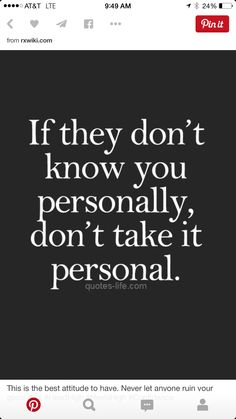 Just because they are in your life doesn't mean they know you personally