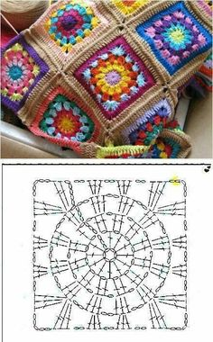 Crochet niffler cardigan a punto alternato a zig zag nunzia valenti – Artofit 33 Crochet Patterns for Covers Granny Crochet Granny Square - Chart by SAburns, Sweet crochet square chart pattern - Image gallery – Page 840836192902409093 – Artofit Crochet Squares, Crochet Blocks, Granny Square Crochet Pattern, Crochet Diagram, Crochet Chart, Crochet Granny, Crochet Motif, Granny Squares, Granny Granny
