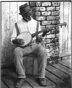 roots music, African-American banjo player