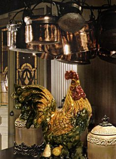 every Tuscany kitchen needs it's own large rooster for good luck..Now I have one large one...how about you????