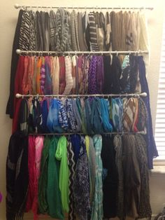 Genial Scarf Organization. Scarf OrganizationOrganization IdeasStorage IdeasCloset  ...