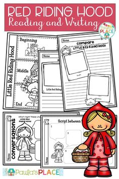 This Little Red Riding Hood – Reading and Writing set provides a small reader options), and supporting tasks to improve literacy through reading and writing. Reading Comprehension Strategies, Writing Strategies, Writing Resources, Teaching Writing, Daily 5 Activities, Guided Reading Activities, Writing Posters, Writing Genres, Text Types