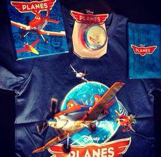 Aviones - franela, yoyó, portapasporte y maletín viajero