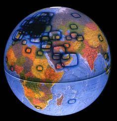 Incredible Map/Globes! http://abeautifulwww.com/2007/02/10/35-great-visualizations/   Click on WorldProcessor