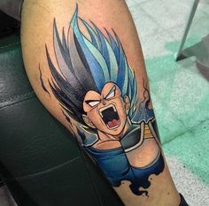 Sick rendition of my rage series Vegeta by Anime Tattoos, Body Art Tattoos, Sleeve Tattoos, Cool Tattoos, Sick Tattoo, Dream Tattoos, Future Tattoos, Tattoos For Guys, Dragon Ball
