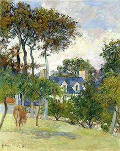 Paul Gauguin La maison blanche