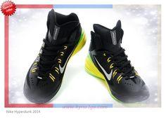 cheap for discount c462d 470f7 Authentic Black Grass   Green Yellow Nike Hyperdunk 2014 653640-033  Mens-Womens