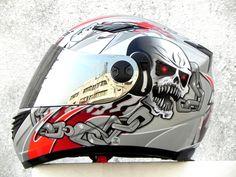 Masei Silver Skull 830 Full Face Motorcycle Helmet Free Shipping