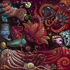 The very detailed Artwork of Robert Steven Connett invites us to dive into the vastness of the imagination of the artist - I am a big fan ♥♥♥