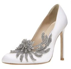 Gone are the days of plain white satin wedding shoes. Many brides are choosing to bling it up for their walk down the aisle. Check out these gorgeous sparkly heels from Jimmy Choo, Christian Louboutin, Manolo Blahnik and more!