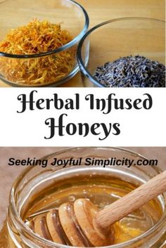 Combining herbs with honey is a delightful way to enjoy herbal medicine. Making your own herbal infused honey is easy and the creative possibilities are endless. Using raw honey, we can preserve the flavor, aroma, and medicinal pro Honey Recipes, Real Food Recipes, Healthy Recipes, Healing Herbs, Medicinal Herbs, Chutney, Honey Spoons, Creamed Honey, Raw Honey