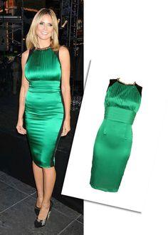 Vegas_Hot Celeb Style Jade Green Silk Elegant Bodycon Dress Size S M L #VegasChic #Bodycon #Cocktail