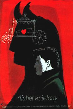 "Józef Mroszczak illustration from ""Gebruachsgraphik No. Art And Illustration, Graphic Design Illustration, Illustrations Posters, Graphic Art, Polish Movie Posters, Polish Films, Film Posters, French Film, Pop Art"