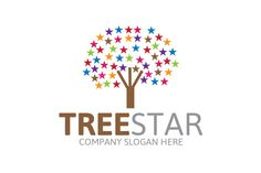 Tree Star Logo by Josuf Media on Creative Market
