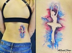 I like combination of blue and pink, for me and my taste this is one interesting tattoo.