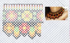Beaded Necklace Patterns, Beading Patterns, Beaded Earrings, Crochet Necklace, Necklace Tutorial, Bead Weaving, Perler Beads, Creativity, Necklaces