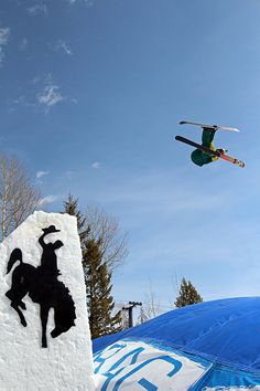3/29/13- Soaring above the Eagle's Rest Terrain Park with a very soft airbag landing incoming... by jacksonholemountainresort, via Flickr