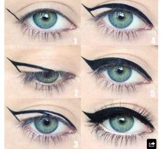 Step by step tutorial on the perfect winged liner by @iheartmakeupart Achieve…
