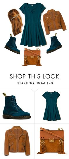 """""""Real Teal"""" by sierraldawson ❤ liked on Polyvore featuring Dr. Martens, Hollister Co., Dsquared2 and Chloé"""
