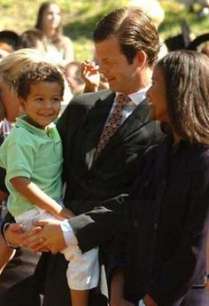 """One pinner wrote, """"Princess Angela of Liechtenstein is the first and only black princess in reigning European monarchy. They're so precious, this should have got much more media attention, the first royal interracial marriage is something that should have been celebrated! And look at their little boy, so cute."""""""