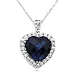 View our Heart of the Ocean Pendant in Sterling Silver. Browse our pendants at Helzberg Diamonds today! Sapphire Necklace, Sapphire Diamond, White Sapphire, Diamond Heart, Ocean Heart, Silver Shop, Heart Jewelry, Body Jewelry, Diamond Jewelry